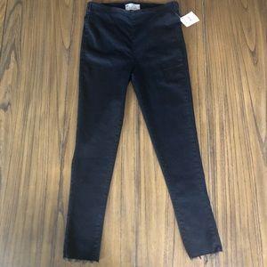 Free People black pull on leggings jeans jeggings